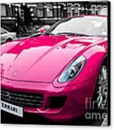 Her Pink Ferrari Canvas Print by Matt Malloy