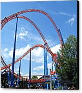 Hershey Park - Storm Runner Roller Coaster - 12125 Canvas Print by DC Photographer
