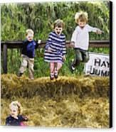 Hey Jump Canvas Print by John Haldane