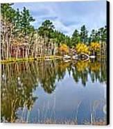 Hiawatha Lake Panorama Canvas Print by Baywest Imaging