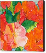 Hibiscus Flowers Canvas Print by Michelle Wiarda