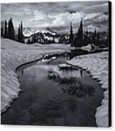 Hidden Beneath The Clouds Canvas Print by Mike  Dawson