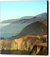 Highway One Bixby Bridge Watercolor Canvas Print by Barbara Snyder