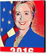 Hillary 2016 Canvas Print by Scarebaby Design