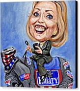 Hillary Clinton 2016 Canvas Print by Mark Tavares