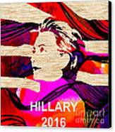 Hillary Clinton 2016 Canvas Print by Marvin Blaine