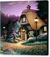 Hillcrest Cottage Canvas Print by Steve Read