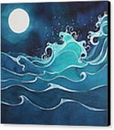 Hina I Ka Malama Drum Canvas Print by Lynne Baur