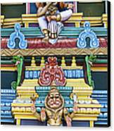 Hindu Temple Deity Statues Canvas Print by Tim Gainey