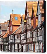 Historic Houses In Germany Canvas Print by Heiko Koehrer-Wagner