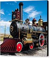 Historic Steam Locomotive - Promontory Point Canvas Print by Gary Whitton