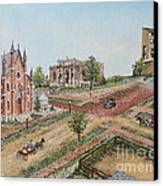 Historic Street - Lawrence Ks Canvas Print by Mary Ellen Anderson