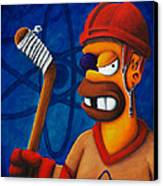 Hockey Homer Canvas Print by Marlon Huynh