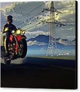 Hog Rider Canvas Print by Dieter Carlton