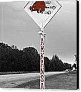 Hog Sign Canvas Print by Scott Pellegrin