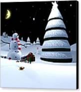 Holiday Falling Star Canvas Print by Cynthia Decker