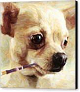 Hollywood Fifi Chika Chihuahua - Painterly Canvas Print by Wingsdomain Art and Photography