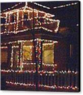 Home Holiday Lights 2011 Canvas Print by Feile Case