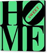 Home Sweet Home 20130713 Black Green Red Canvas Print by Wingsdomain Art and Photography