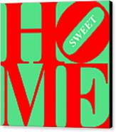 Home Sweet Home 20130713 Red Green White Canvas Print by Wingsdomain Art and Photography