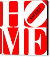 Home Sweet Home 20130713 White Red Black Canvas Print by Wingsdomain Art and Photography