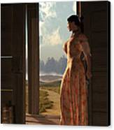 Homestead Woman Canvas Print by Daniel Eskridge