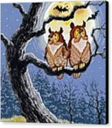 Hooty Whos There Canvas Print by Richard De Wolfe