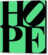 Hope 20130710 Black Green Canvas Print by Wingsdomain Art and Photography