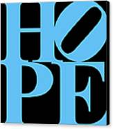 Hope 20130710 Blue Black Canvas Print by Wingsdomain Art and Photography