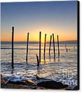 Horizon Sunburst Canvas Print by Michael Ver Sprill