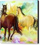 Horse Paintings 009 Canvas Print by Catf