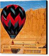 Hot Air Balloon Over Thebes Temple Canvas Print by John G Ross