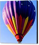 Hot Air Ballooning In Vermont Canvas Print by Edward Fielding