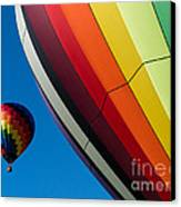 Hot Air Balloons Quechee Vermont Canvas Print by Edward Fielding