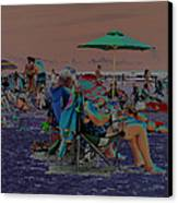 Hot Day At The Beach - Solarized Canvas Print by Suzanne Gaff