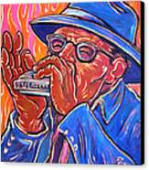 Hot Harp Canvas Print by Robert Ponzio