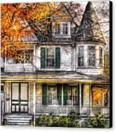 House - Classic Victorian Canvas Print by Mike Savad