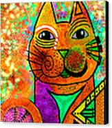 House Of Cats Series - Blinks Canvas Print by Moon Stumpp