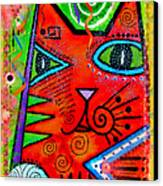 House Of Cats Series - Bops Canvas Print by Moon Stumpp