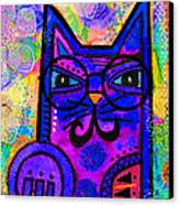 House Of Cats Series - Paws Canvas Print by Moon Stumpp