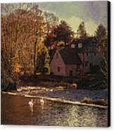 House On The River Canvas Print by Amanda And Christopher Elwell