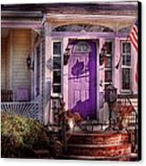 House - Porch - Cranford Nj - Lovely In Lavender  Canvas Print by Mike Savad