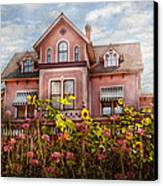 House - Victorian - Summer Cottage  Canvas Print by Mike Savad