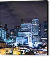 Houston City Lights Canvas Print by David Morefield