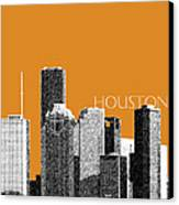 Houston Skyline - Dark Orange Canvas Print by DB Artist