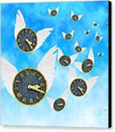 How Time Flies Canvas Print by Juli Scalzi
