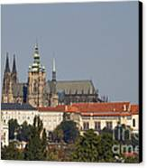 Hradcany - Cathedral Of St Vitus On The Prague Castle Canvas Print by Michal Boubin