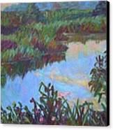 Huckleberry Line Trail Rain Pond Canvas Print by Kendall Kessler