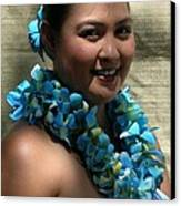 Hula Blue Canvas Print by James Temple