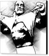 Hulk Hogan By Gbs Canvas Print by Anibal Diaz